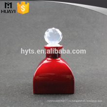 красный цвет пустой стеклянный рассеиватель диффузор для духи с шариковым стопором