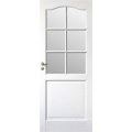 Hot Sale White Half French Wooden Door Design