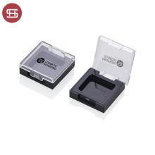 Black Transparent Oem Empty Plastic Square Single Eyeshadow Case For Filling