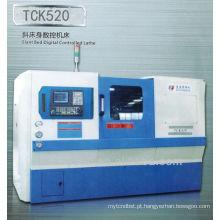 Banco torno máquina-ferramenta de inclinação cama cnc torno máquina TCK520
