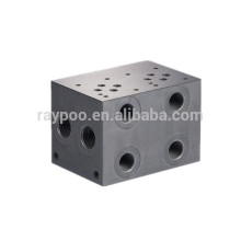 china hydraulic valve block solenoid valve block