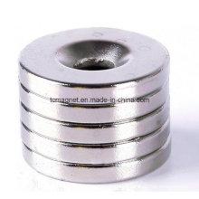 20mm X3mm agujero 5mm anillo de la tierra rara fuertes imanes de neodimio avellanado