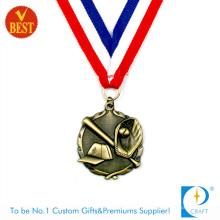 China Personalizado de alta qualidade Antique Bronze 3D Baseball medalha em carimbo de cobre