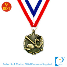 Китай пользовательских высокое качество Античная Латунь Бейсбол медаль 3D в медь Штемпелюя