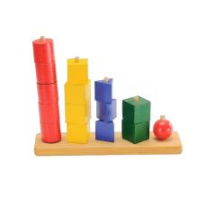 Juego de madera del ajedrez del juguete del bloque (CB1056)