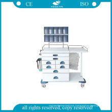 (AG-AT017) High Strength Power Coating Steel Anesthesia Trolley