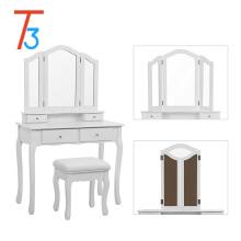 ДСП деревянный зеркальный туалетный столик дизайн сингапур