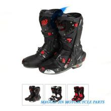 Botas de motocicleta de cuero de Super-Fibra resistente al desgaste