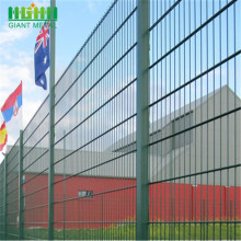 pvc+coated+welded+double+wire+fence+for+residental