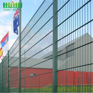 pvc coated welded double wire fence for residental