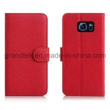 Flip Cover PU étui en cuir pour Samsung Galaxy S6 Stand Cover