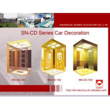 Cabine do elevador com o painel da abóbada do St. do espelho (SN-CD-101)