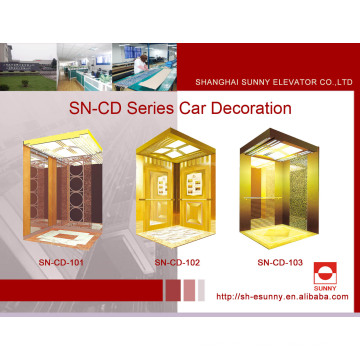 Elevator Cabin with Mirror St. St Vault Panel (SN-CD-101)