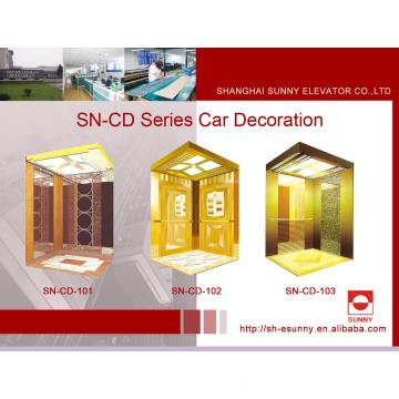 Cabine d'ascenseur avec panneau St. St Vault de miroir (SN-CD-101)