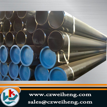 Top for ASTM A106 Seamless Steel Pipe Black ASTM A106 Gr.B Sch40 SEAMLESS STEEL PIPE supply to Gambia Manufacturer