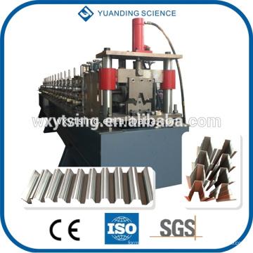 Passé CE et ISO YD-7129 Full Automatique PLC contrôle Profil supérieur Purlin profil Roll formant la machine