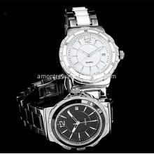 Fashion Stainless Steel Watch Quartz Lovers Watch