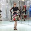 Короткий стиль кружева с длинным рукавом вечернее платье для большого размера мода и elegent леди