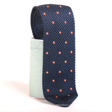Stickerei Punkte Wolle Dreieck Skinny Custom Knit Tie