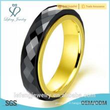 2015 vente en gros de bijoux en titane en acier inoxydable en céramique en noir pour femmes, hommes
