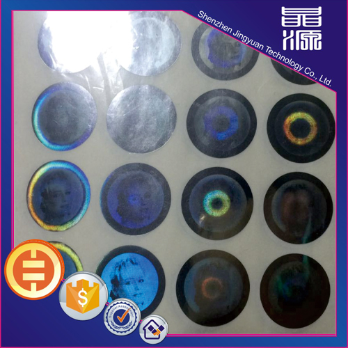 Printing Design Round 3D Security Label Sticker