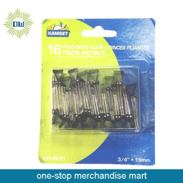 16pcs Fold-back clips size 19mm