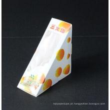 Caixa de empacotamento do sanduíche do papel do produto comestível para a venda