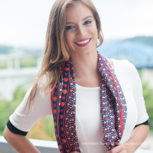 Top Grade Custom Digital Print hand rolled silk scarf