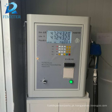 Novo design kit 220 v recibos de impressão bomba de transferência de dispensador de combustível com mangueira de entrega do medidor vermelho