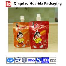 FDA Grade Plastic Juice Aluminium Foil Doypack Pouches with Spout