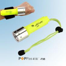 10W / 300lumens CREE T6 Tauchen LED Tauchen Taschenlampe (POPPAS-F98)