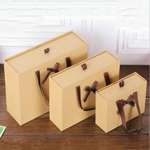 Cajas de regalo de papel marrón Kraft