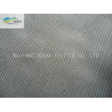 14W 99.2%Cotton 0.8%Spandex trama elástica listra veludo tecido 315GSM
