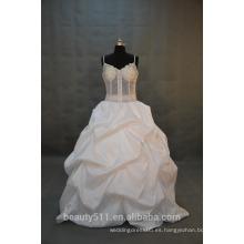 EN STOCK Hombro-correas vestido de boda Vestido nupcial del amor SW15