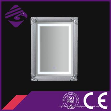 2016 New Style Rectangle Modern Art Frame Silver Bathroom Wall Mirror