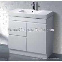 Белый белый блеск Muti-листинг ванной кабинет