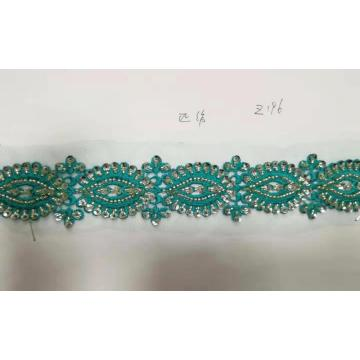 Embroidery beaded lace