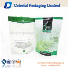 2016 grüne Verpackung Molkeprotein Energie Reißverschluss Standup Beutel