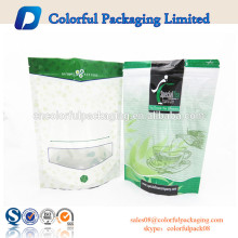 2016 green packaging whey protein energy zipper standup pouch