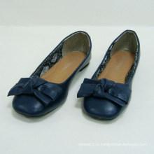 Женская повседневная одежда Bowknot Slip-on Blue Flat Балетные туфли Удобная обувь для танцев