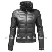 Black short duck down jacket women