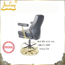 Bar Chair Mod. 953 With Arm / Multi-Foot Brass, Blk