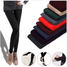 Moda feminina quente grossas velo estiramento calças skinny (sr8231)