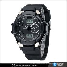 Relógio digital multifuncional de tempo mundial, relógios de pulso para homem