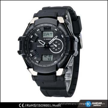 Horloge mondiale multifonction numérique, montre-bracelet pour hommes