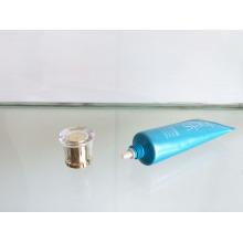 Tampa de acrílico médico Dia25mm com tubo de PE para o recipiente de creme