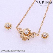 61847-Xuping мода женщина ювелирные изделия набор с 18k позолоченный