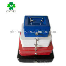 Caja de metal / banco de monedas / banco de metal