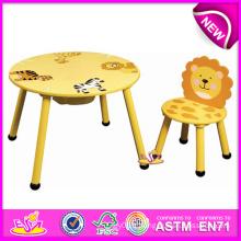 Tableau en bois coloré coloré de meubles de conception et chaise d'enfants pour le bébé