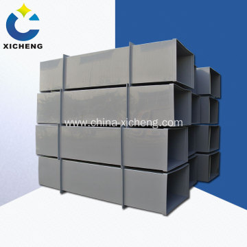Industrial pp ventilation pipe with square shape